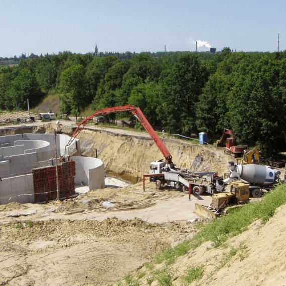Budowa zbiorników oczyszczalni ścieków